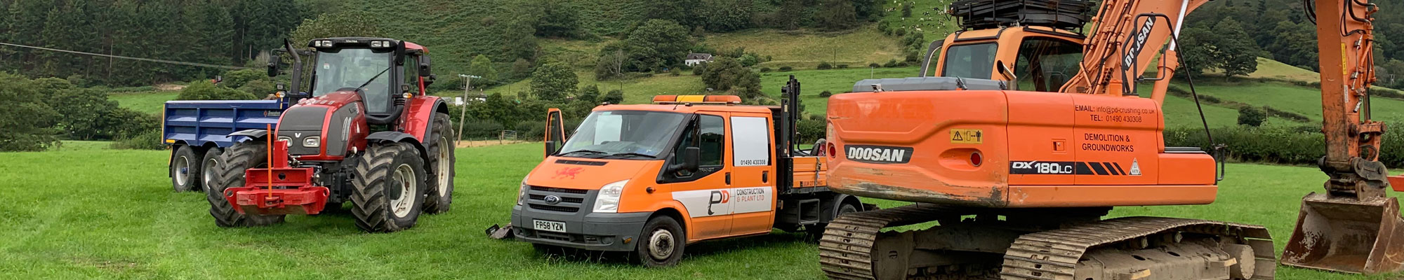 Groundworks equipment in North Wales